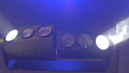 Blinking Stage Lamps Footage