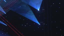 Erratic Laser Stage Lights Stock Video Footage