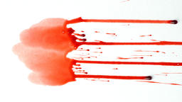 Blood splash on white background Footage
