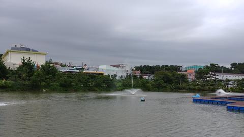 a wet lake フォト