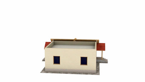 House construction, building, apartments, architecture,…, Stock Animation