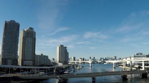 Japanese cityscape. A car window from the capital high speed ビデオ