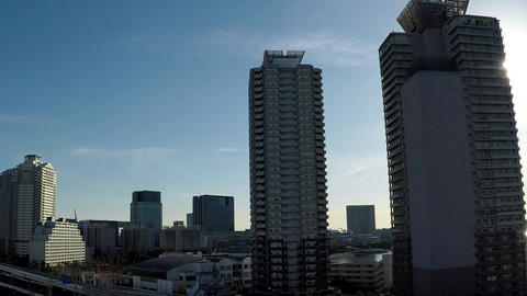Japanese cityscape. A train window from the capital high speed. Near Tokyo, Footage