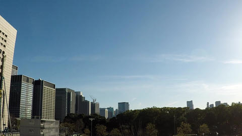 Japanese cityscape. Bill County in Otemachi seen from the capital high speed ビデオ