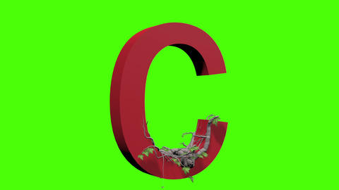 animation - Ivy growing over a letter Animation