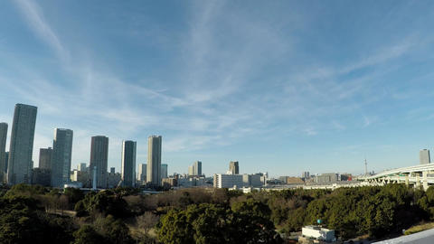 Japanese cityscape. Tower apartment group seen from the capital speed ビデオ