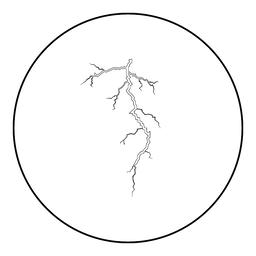 Thunderstorm crack icon black color in round circle ベクター
