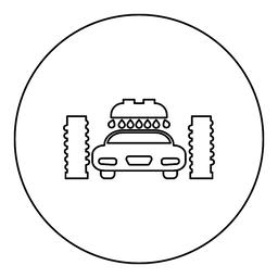 Car wash automatic icon black color in round circle ベクター