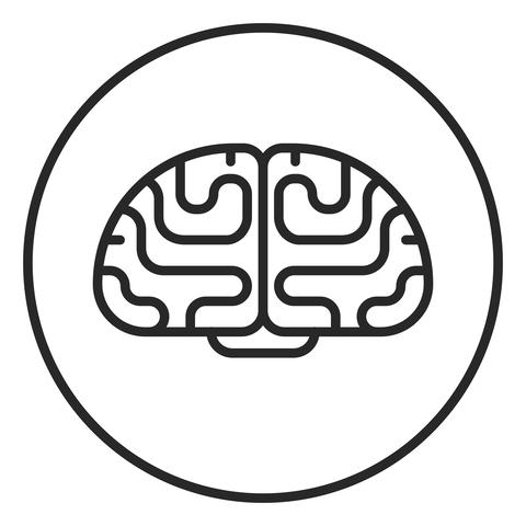 Brain stroke icon, logo illustration. Stroke high quality symbol フォト