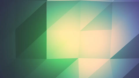 Green Blue Polygonal Geometric Slow Surface Motion Background Animation