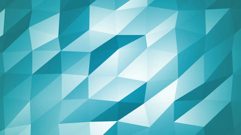 Blue Polygonal Geometric Slow Surface Motion Background Animation
