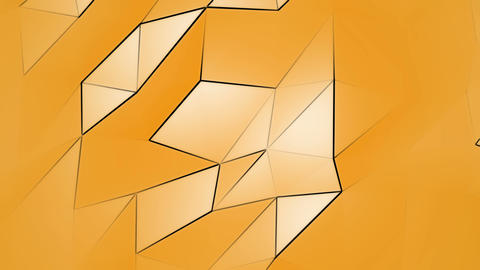 Orange Polygonal Geometric Slow Surface Motion Background Animation