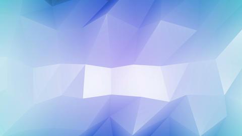 Purple Blue Polygonal Geometric Slow Surface Motion Background Animation