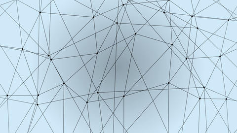 Abstract Geometric Polygonal Lines And Dotes Structure Background Animation