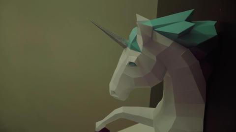 Beautiful sculpture of a unicorn Footage