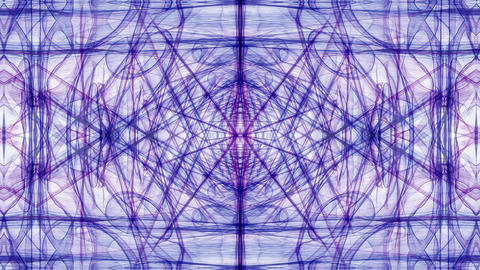 Animated symmetric purple fractal patterns on white background. Geometric Animation