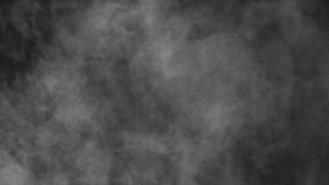 White Smoke Steam Cloud Loopable Background Animation