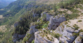 Gorges du Tarn Precipice and Valley Panorama Live Action