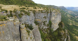 Gorges du Tarn Valley and a Rope Glider Aerial Footage