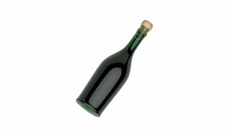 Champagne bottle Animation