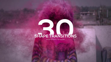 4K Shape Transitions After Effects Template