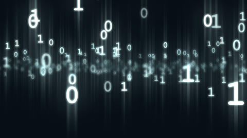 Animated computer binary bits and bytes numbers particles loop able. 3D Animation