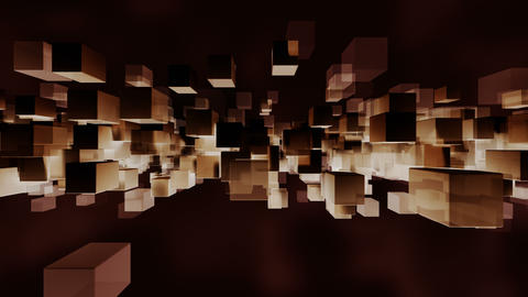 Animated block particles light and dark loop able. 3D rendering 4K Animation