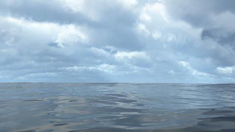 Animated flowing transparent ocean water loop able. 3D rendering 4K Animation