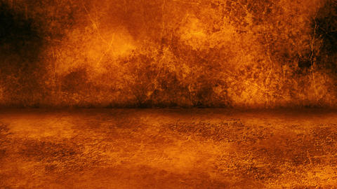 Orange Grunge Wall and Floor Loopable Intro Background Animation