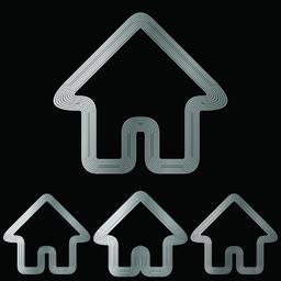 Silver real estate logo design set Vector