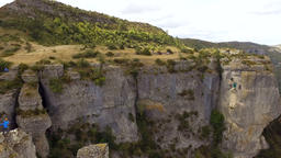 Gorges du Tarn Cliffs and Plateau Aerial Shot Footage