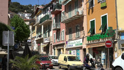 France Cote d'Azur Villefranche sur Mer uphill commercial street in center GIF