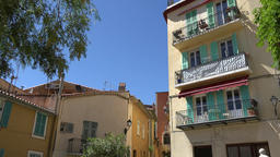 France Cote d'Azur Villefranche sur Mer colorful multiple family dwelling GIF