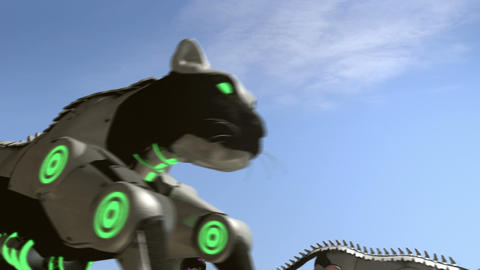 Steam punk black cats - 24 fps Animation