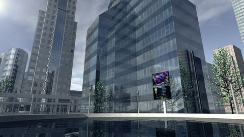 Animated modern business company district 4K Stock Video Footage