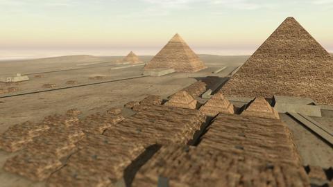 Animation of the Giza platform Egypt in 3D 4K Animation