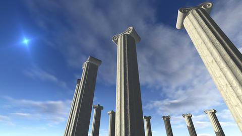 Animated ancient greek pillars Loop-able 4K Animation