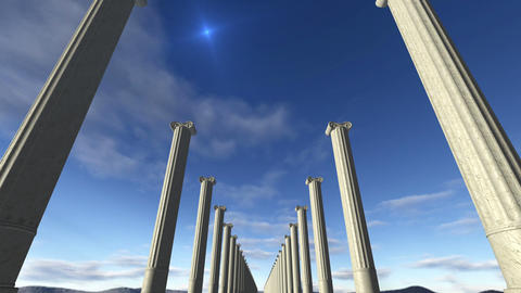 Animated ancient greek columns Loop-able 4K Animation