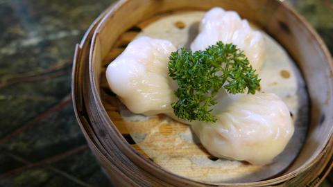 Ha gow a shrimp dumplings is a traditional Cantonese dumpling Footage
