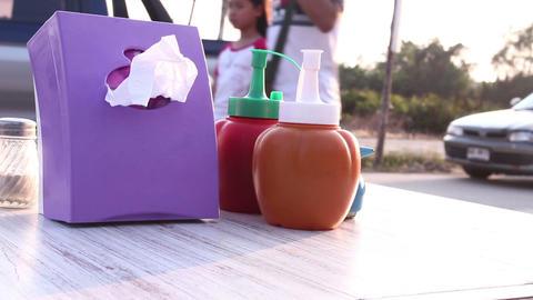 bottle tomato sauce. market view Footage