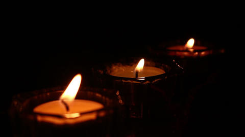 candle light isolated black Footage