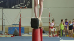 girl athlete on gymnastics Footage