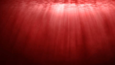 Red sea underwater scene with rays of light Animation
