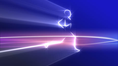 Runner, jogger - abstract. Loop Animation