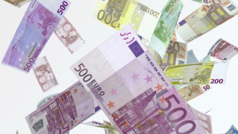 Falling Euros (Loop) Stock Animation Animation