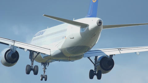Airbus 320 Approaching stock footage