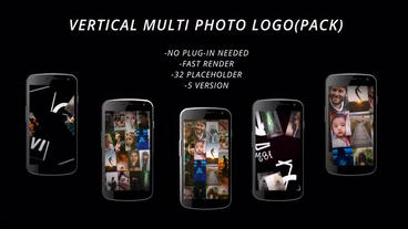 vertical muli photo logo After Effects Template