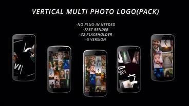 vertical muli photo logo Plantilla de After Effects