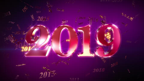 New Year 2019 Animation Loopable Background Videos animados