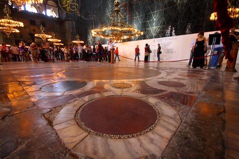 Muslim worship Hagia Sophia Photo